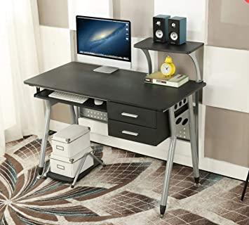 Ebs Table De Bureau Meuble Pour Ordinateur Avec Support Clavier