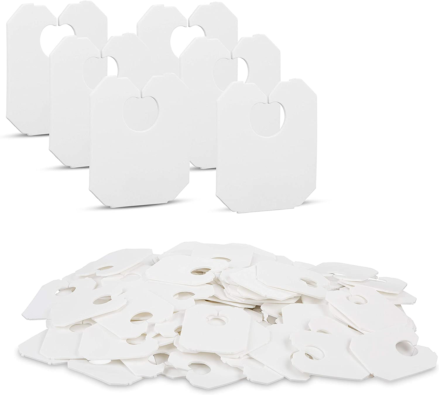 Disposable White Plastic Bread Clips 7/8 x 1 1/8 inches Keep Your Food Fresh After Opening by MT Products (100 Pieces)