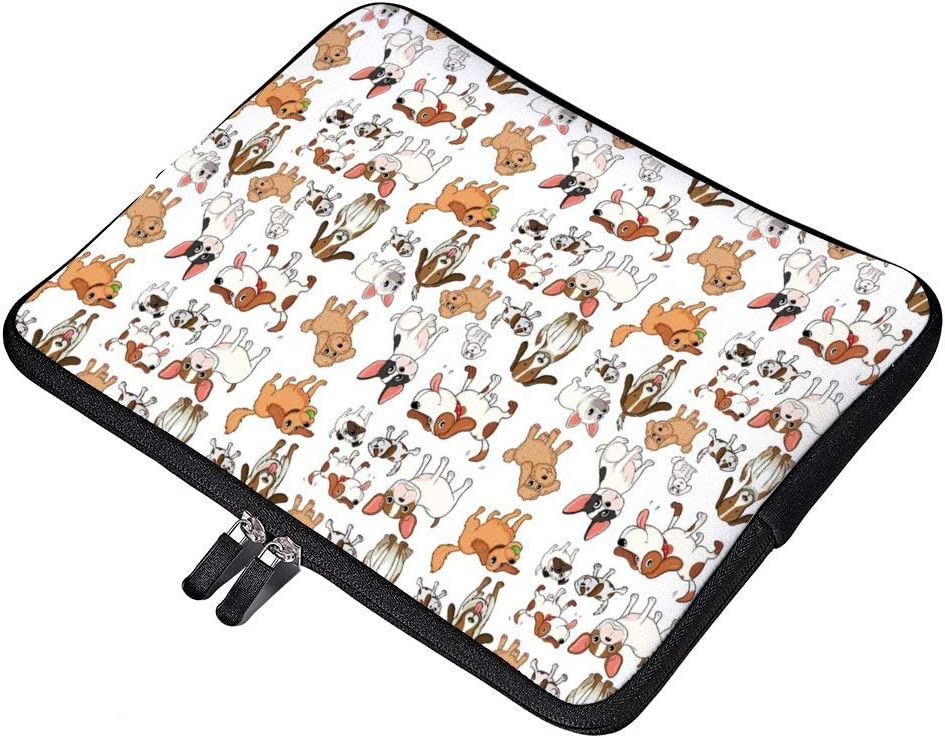 Chihuahua Terrier Bulldog 17 17.3 Inch Water-Resistant Neoprene Laptop Sleeve Case Cover Bag for Notebook Computer Ultrabook Laptop Tablet MacBook Pro or Ultrabook