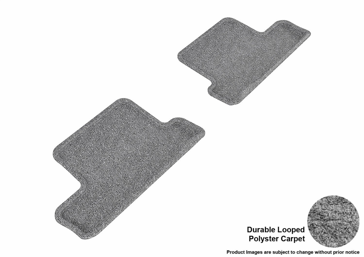 Gray Classic Carpet 3D MAXpider All 2 Row Custom Fit Floor Mat for Select Scion FR-S Models