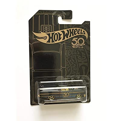Hot Wheels 2020 50th Anniversary Black & Gold Series 1/64 Scale Diecast Model Car ('65 Ford Ranchero): Toys & Games