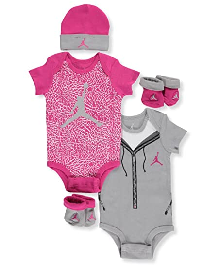 Baby Girl Jordan Clothes Mesmerizing Amazon Jordan Baby Girls' 60600Piece Layette Set Wolf Gray 60060