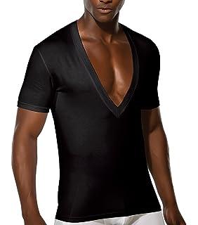 33636ab2bc336e DOREANSE DU2850 T-Shirt Herren Unterhemd Großer Ausschnitt Tiefer  V-Ausschnitt Extra-Deep