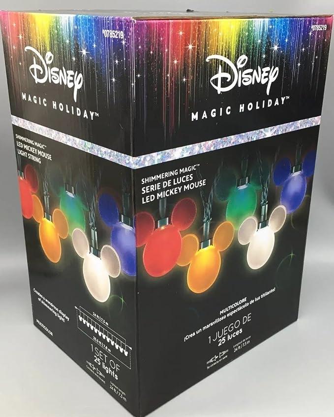 NEW Disney Mickey Mouse Shimmering Magic 25 LED Light String Set 24 Ft