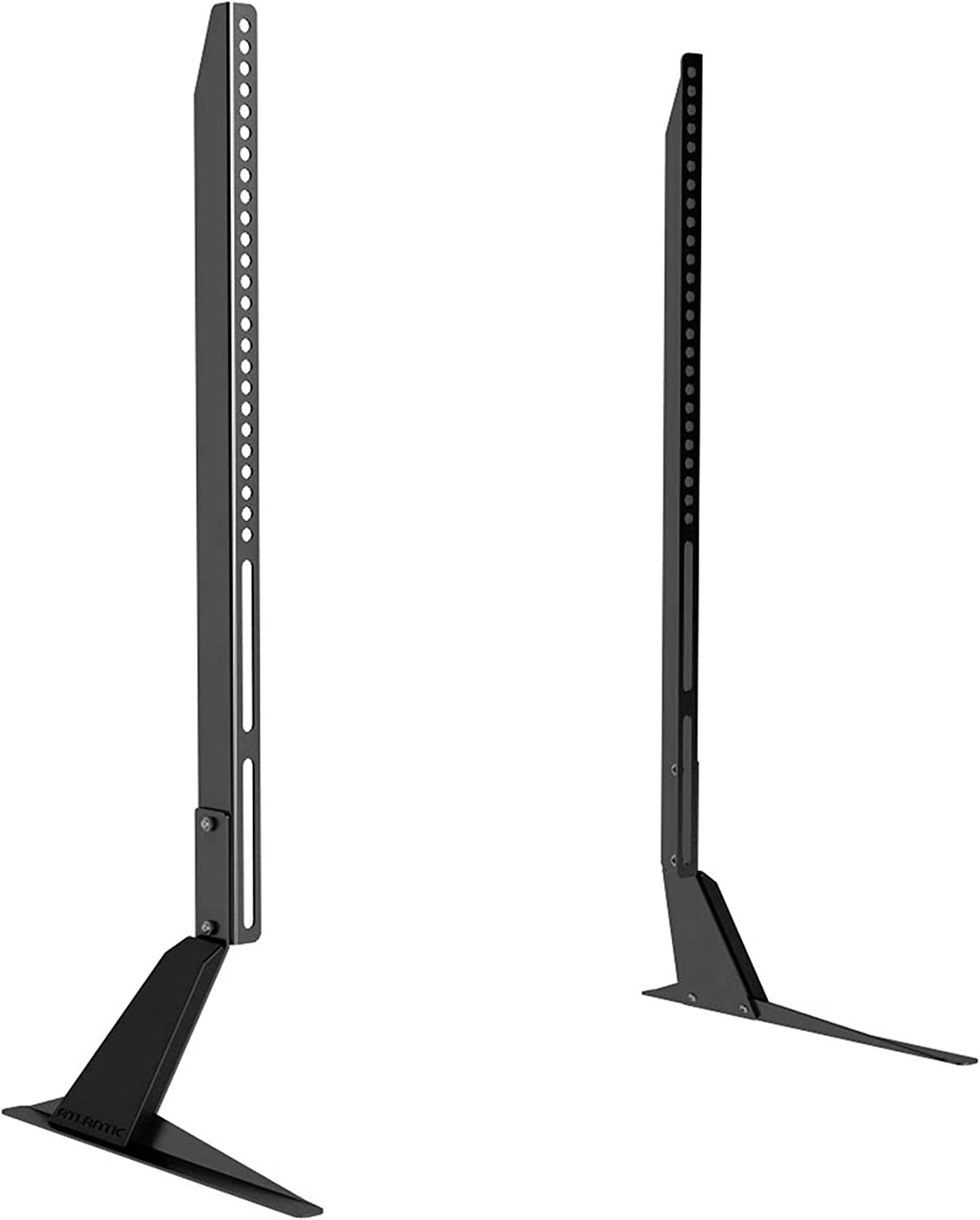 Atlantic Table Top Tv Stand Universal Adjustable Table Top Tv Stand Adjust Height Base Mount For Flat Screen Tv Up To 42 Inch And 66 Lbs Pn 63607103 In Black Home Audio Theater Amazon Com