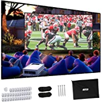 Projector Screen, Upgraded 150 inch 4K 16:9 HD Portable Projector Screen, Premium Indoor Outdoor Movie Screen Anti-Crease Projection Screen for Home Theater Backyard Movie.