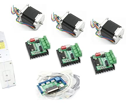 3 Axis Controller Kit Nema23 270oz-in CNC Stepper Motor (Dual Shaft) Nema Arduino Wiring Diagram on