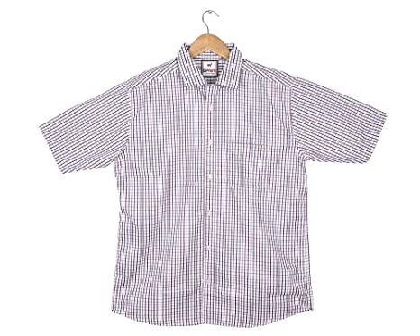 cdad6884b8535 Liwork Men's Half Sleeve Rich Cotton White & Purple Square Multi Color Check  Shirts: Amazon.in: Clothing & Accessories