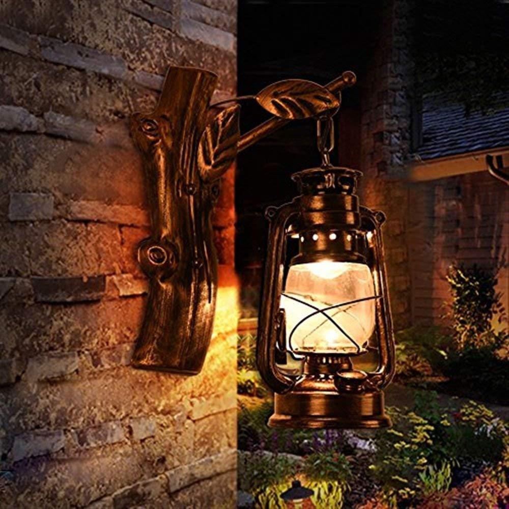 JI Gyy Home Hotel Lighting Graziosa Retro Lampada da Parete, Loft Lampada da Parete in Ferro personalità Creativa Camera Bar Ristorante Cafe Club Applique E27 Originalità