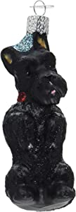 Old World Christmas Dog Collection Glass Blown Ornaments for Christmas Tree Scottish Terrier