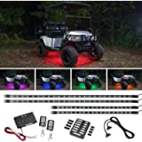 LEDGlow 4pc Expandable Million Color LED Golf Cart Underglow Accent Neon Lighting Kit for EZGO Yamaha Club Car - Fits…