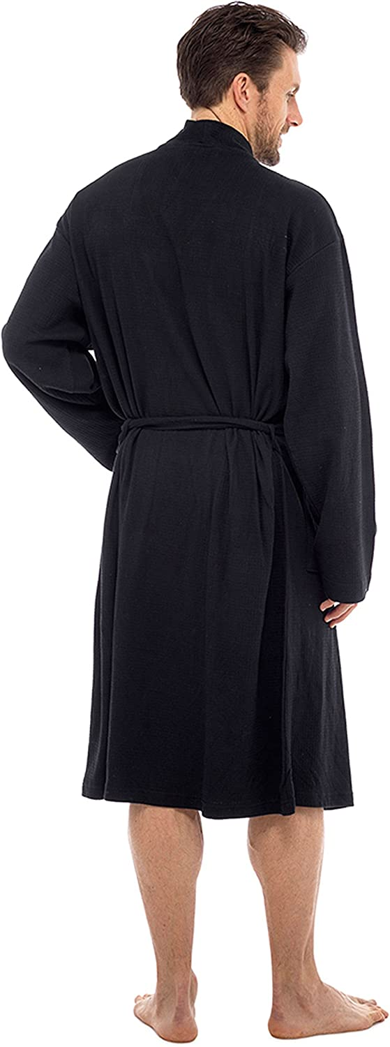 Soft Waffle Robe Wrap Loungewear INSIGNIA Mens 100/% Cotton Robe Dressing Gown