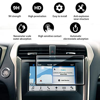 YEE PIN 2015 2016 2017 2018 Ford Fusion Sync 2 Sync 3 App Link My Ford 8  Inch Hardened Film is to Prevent Scratches