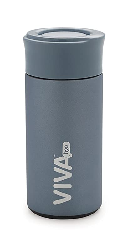 Image result for Celebrationgift Viva H2O Stainless Steel Double Wall Vacuum Flask 12 Hrs Hot & Cold Vh 7003 (Blue, 350 Ml)