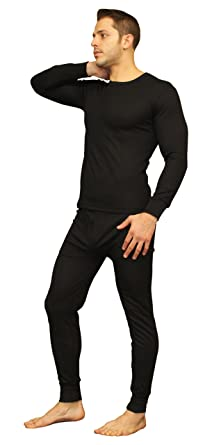 Men s Soft 100% Cotton Thermal Underwear Long Johns Sets - Waffle - Fleece  Lined ( 3c50ced0c