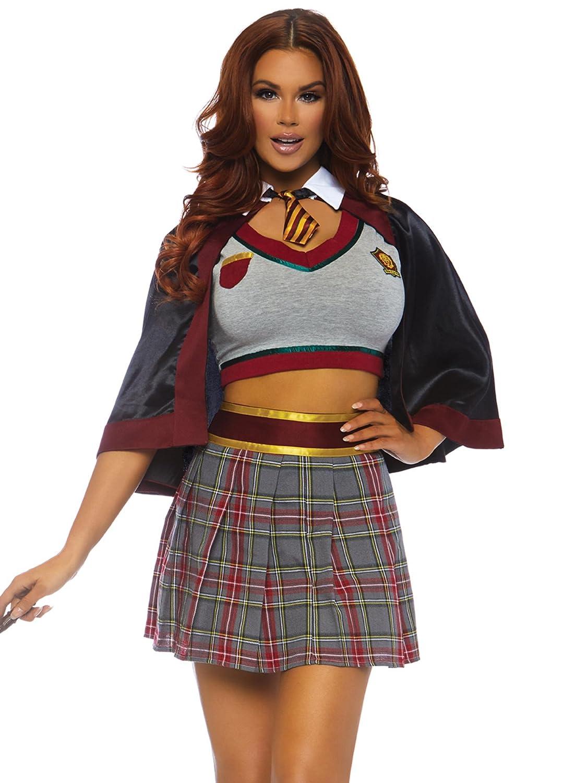 Leg Avenue Women's Spell Casting School Girl Fancy Dress Costume Small
