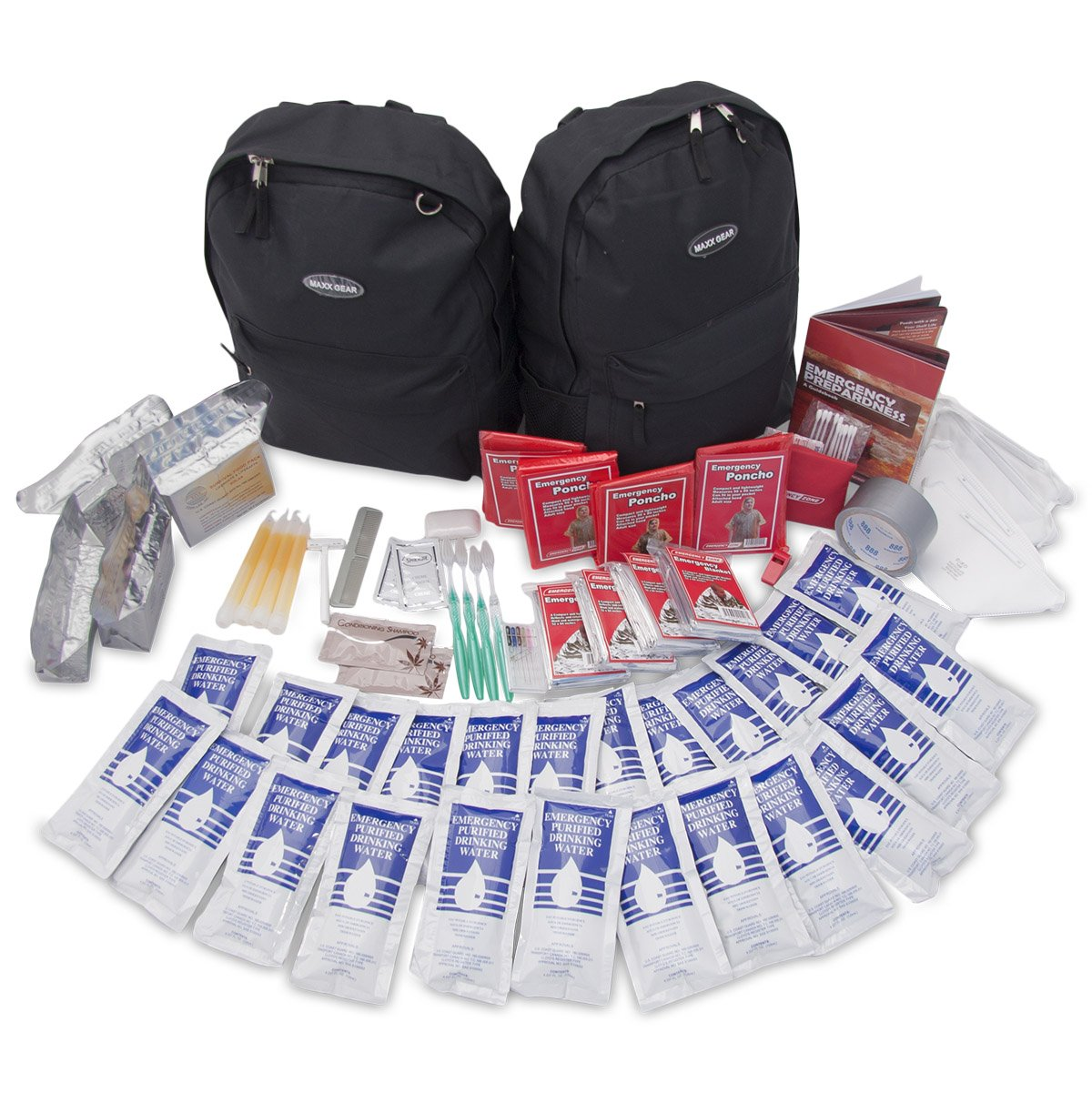 Quick Start Emergency Kit, 2 and 4 Person, Emergency Zone Brand (4 Person)