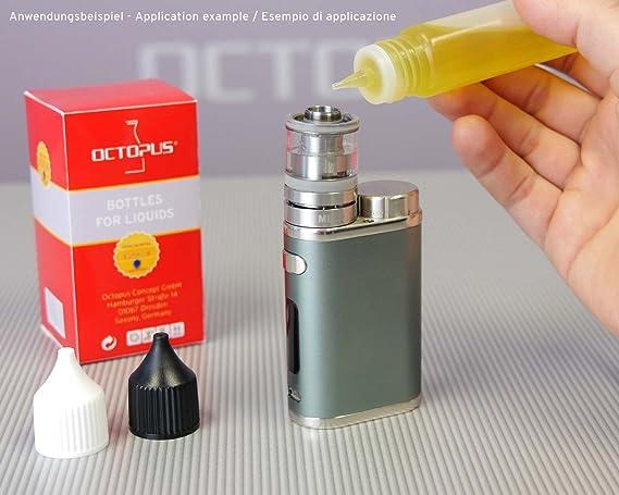 5 x 30 ml frascos de E-líquidos, frascos dosificadores de PEBD blando para E-líquidos, cigarrillos electrónicos, frascos de plástico con tapón, frascos para ...