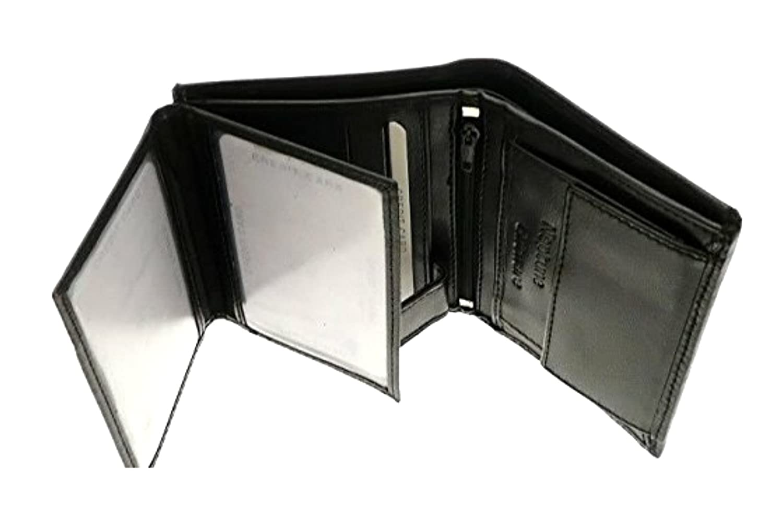Mens Black Napa Leather Wallet Credit Card Holder Coin Storage At Amazon  Menu0027s Clothing Store:
