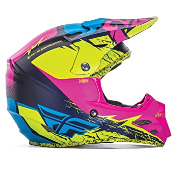 Fly Racing Casco F2 carbono MIPS Retrospec - Hi-Vis/rosa: Amazon.es: Deportes y aire libre