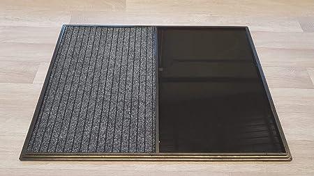 Alfombra - Felpudo Desinfectante para la entrada. Medidas: 60x80, consta de 2 divisiones, la zona de desinfección sin moqueta y zona para el secado.: Amazon.es: Hogar