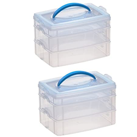 Amazon.com: Snapware Snap 'N Stack Square Layer Storage Container ...