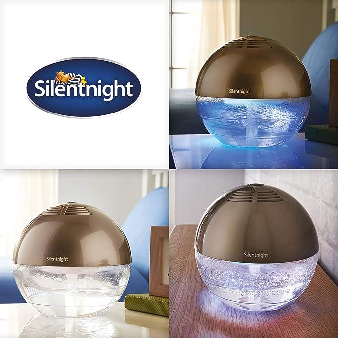 Silentnight LED Cambia Colore purificatore d/'aria e Umidificatore con ionizzatore Argento