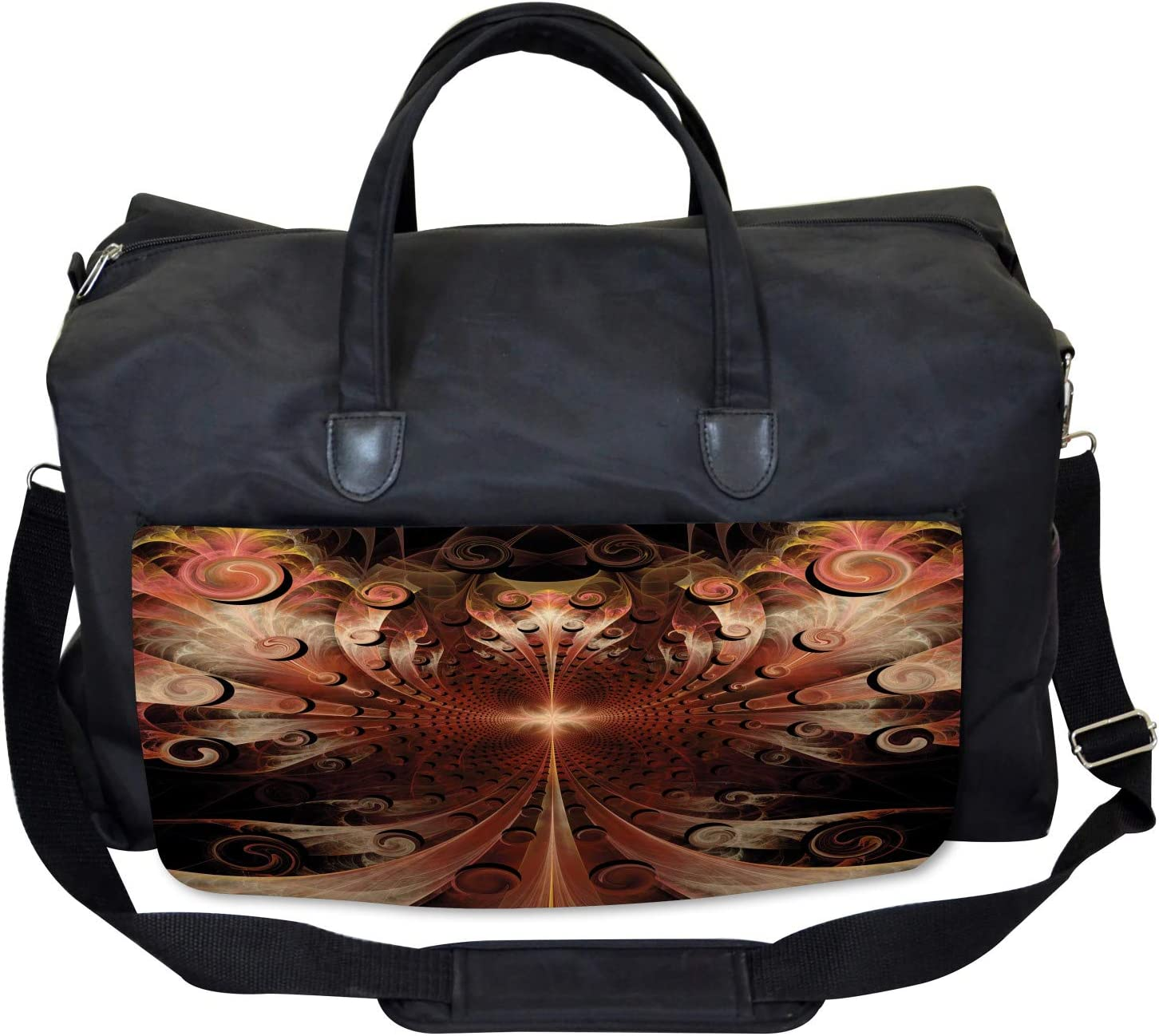 Medieval Times Artwork Large Weekender Carry-on Ambesonne Gothic Gym Bag