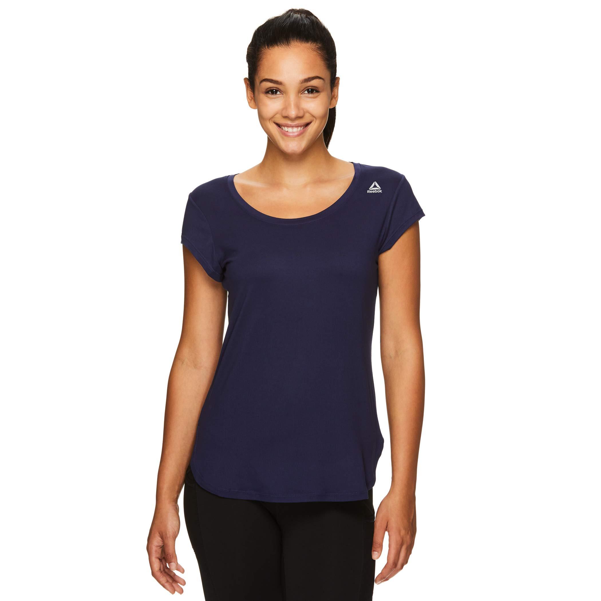 Reebok Women's Legend Performance Top Short Sleeve T-Shirt - Legend SS Medieval Blue, X-Small by Reebok