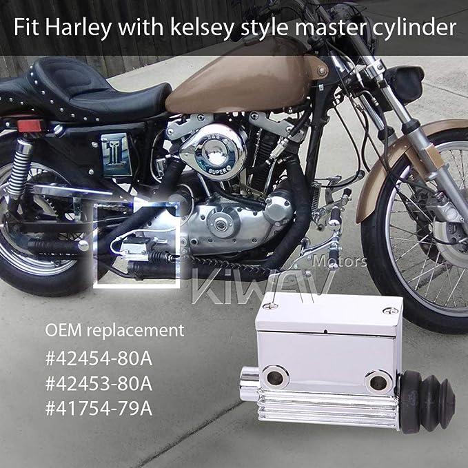 Rear Master Cylinder 5//8  Bore Billet fits Harley-Davidson