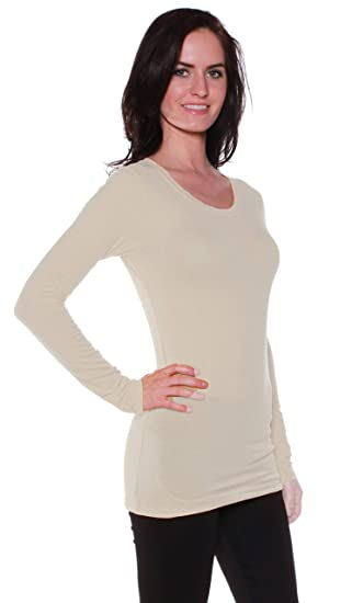 7a990a24c Active Basic Athletic Fitted Plain Long Sleeves Round Crew Neck T Shirt Top  (Small