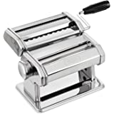 PAGILO Pasta Maker, made of stainless steel, 7 adjustments for making fresh homemade spaghetti, lasagne, fettuccine and noodles | 2 Year Satisfaction Guarantee | pasta pressing machine, manual noodle press, pasta maker for cooking freshly made pasta at home
