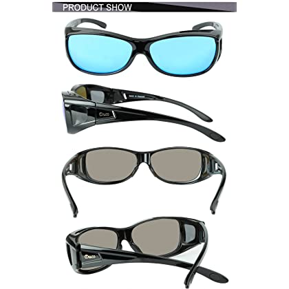 cbd1897696c ... Duco Unisex Wear Over Prescription Glasses Rx Glasses Polarized  Sunglasses 8953 ...
