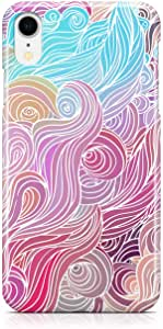 Loud Universe Case for iPhone XR Wrap Around Edges Multicolor Hairs Swirl Pattern Rugged Durable Sleek Low Profile iiPhone XR Cover