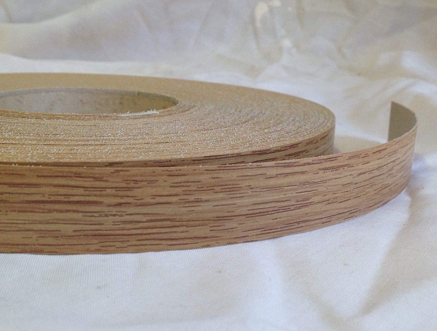 Pre Glued Iron on Melamine Natural Oak Edging Tape 22mm wide Various Lengths .Free Postage (10 metres)