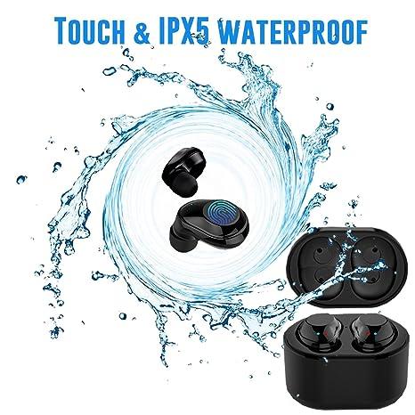 Larkoo touch control impermeabile wireless Bluetooth auricolari con  ricarica box – Tws mini stereo Bluetooth 4.2 4e780d2a5e32