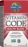 Garden of Life Vitamin Code Iron Supplement, Healthy Blood - 60 Vegan Capsules, 28g Iron, Vitamins B, C, Trace Minerals…