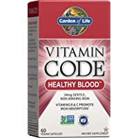 Garden of Life Iron Supplement - Vitamin Code Healthy Blood Raw Whole Food Vitamin...
