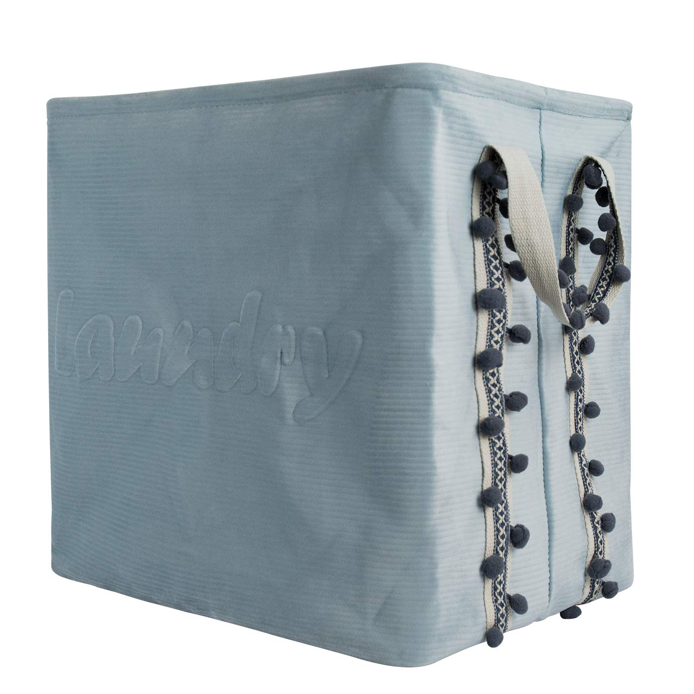 LA JOLIE MUSE Storage Baskets Nursery Hamper – Collapsible Storage Bins Baby Laundry Basket, Foldable Storage Organizer for Toys Clothes,17 x13 x16 Velvet Storage Basket