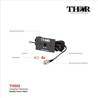THOR MANUFACTURING TH002 Installer Remote Control w/Removable Face Plate and LED for Thor THMS and THPW Inverters: Industrial & Scientific