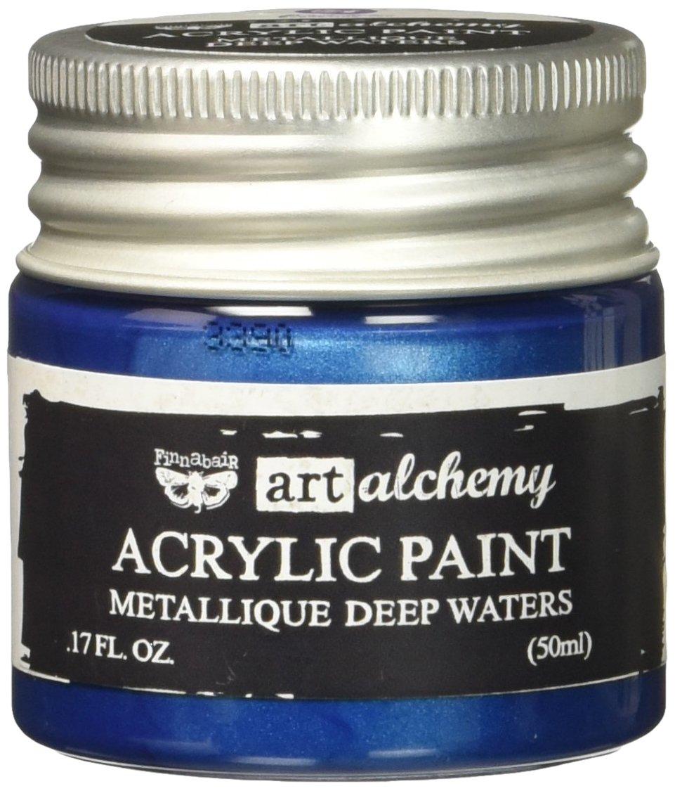 Prima Marketing Finnabair Art Alchemy Acrylic Paint 1.7 Fluid Ounces-Metallique Deep Waters, Other, Multicoloured