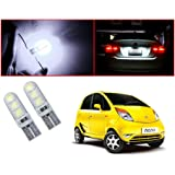 Auto Pearl - LED Parking Bulb Pilot Light / Daytime Running Lens Led Licence Plate Light T10-5050 (White) For - Tata Nano