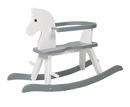 Cavallo A Dondolo Legno.Roba Cavallo A Dondolo Bianco Colore Grigio Unica 6918w Amazon