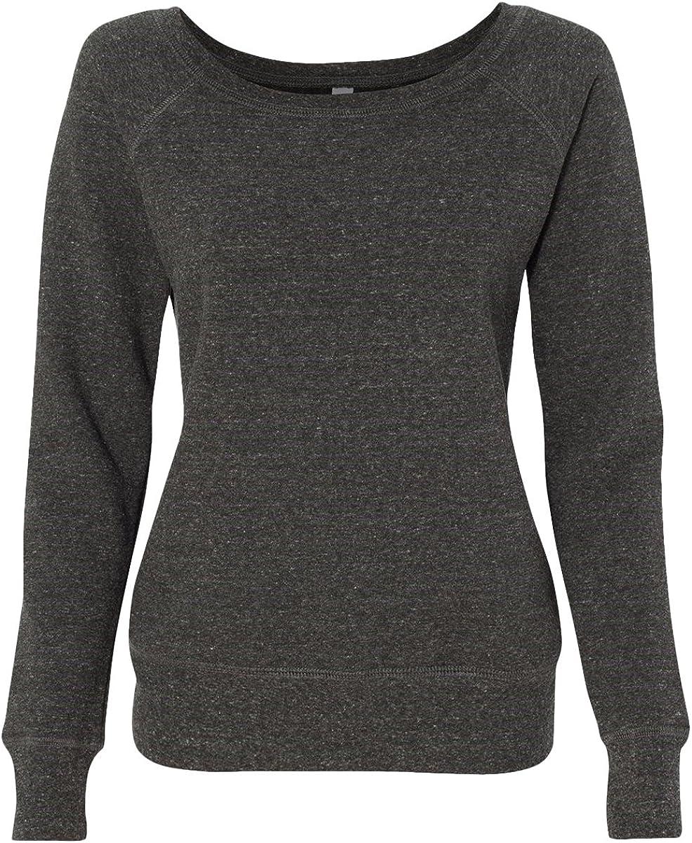 Bella Canvas Women/'s Sponge Fleece Wide Neck Sweatshirt