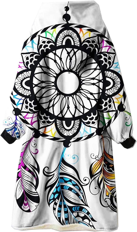 Decke mit Kapuze, 3D Drucken Decken Kapuzenpullover, Übergroße Hochwertiges Sherpa-Fleece Sweatshirt Schwarz