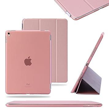 TKOOFN® Funda Carcasas diseñado poliuretano para Apple iPad Pro 9.7 pulgadas Apple iPad Smart Cover Rosa oro