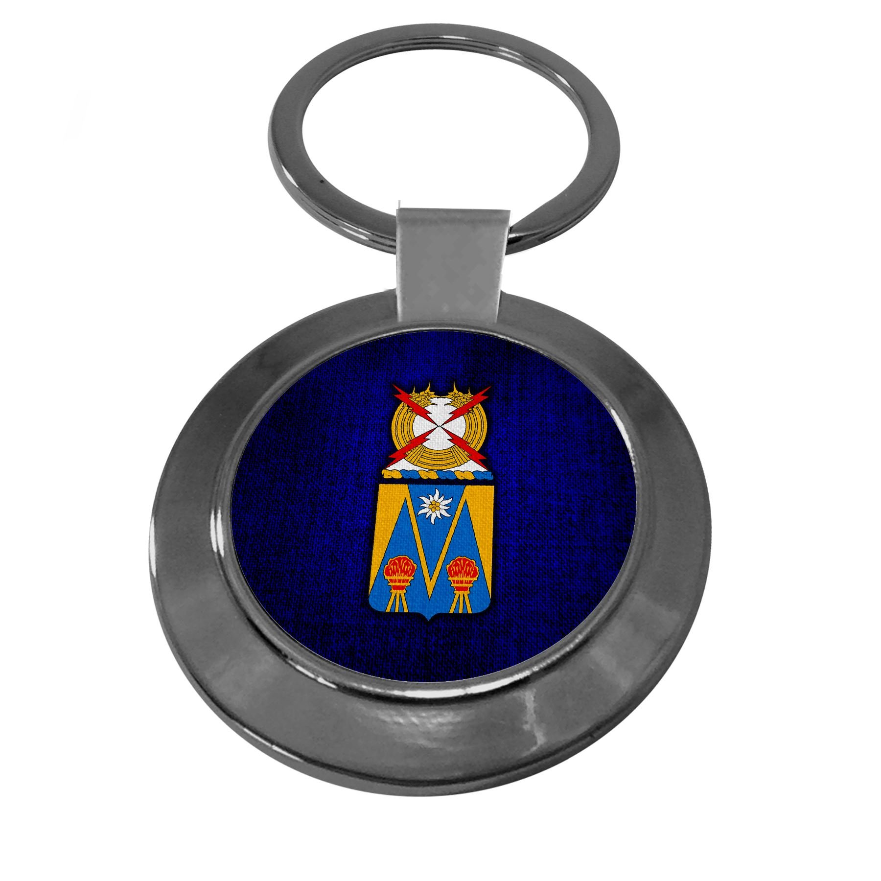 Premium Key Ring with U.S. Army 303rd Military Intelligence Battalion, coat of arms