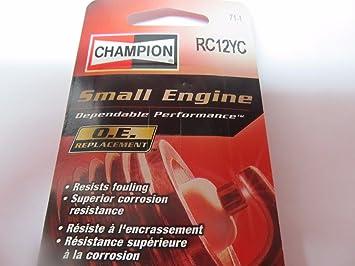 2 auténtica Bujías Champion RC12YC pequeño motor # 71 - 1 Lot de 2 Nueva fuente; _ por _ T.C. hardware: Amazon.es: Juguetes y juegos