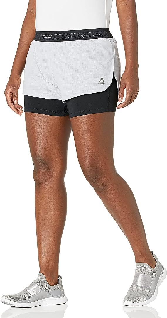 Reebok Epic Womens 2 In 1 Training Shorts Blue