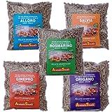 Aromatic Barbecue : 4 sacchi da 1 kg. di pellets aromatizzati per affumicatura con barbecue.